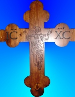 Botonnee Cross w/ Carved Christ